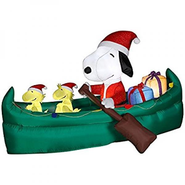 Gemmy Ns Abln Snoopy In Canoe