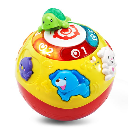 VTech Wiggle & Crawl Ball With Animal Friends Encourages Motor (Fine Motor Skill Toys For 1 Year Old)