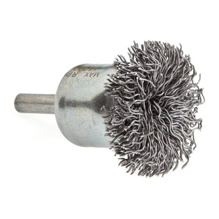 Forney 60003 End Brush, Coarse Circular with 1/4-Inch Shank, 1-1/2-Inch Brush 0.125 Shank