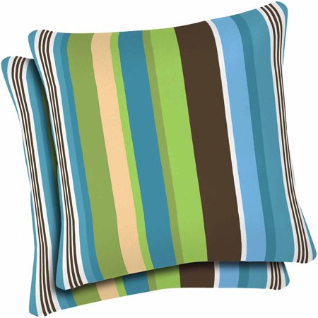 Mainstays Outdoor Patio Toss Pillow Set Of 2 Walmart Com