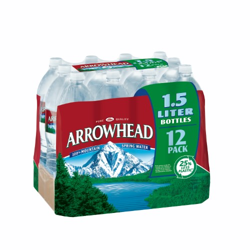 Arrowhead Mountain Spring Water, 50.7 Fl Oz, 12 Count by Nestle Waters North America