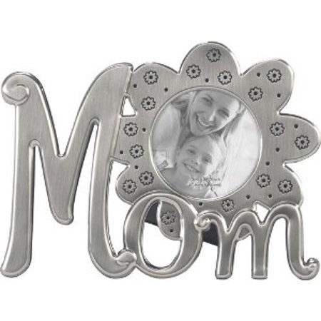Mom Flower - Pewter Icons Photo Frame