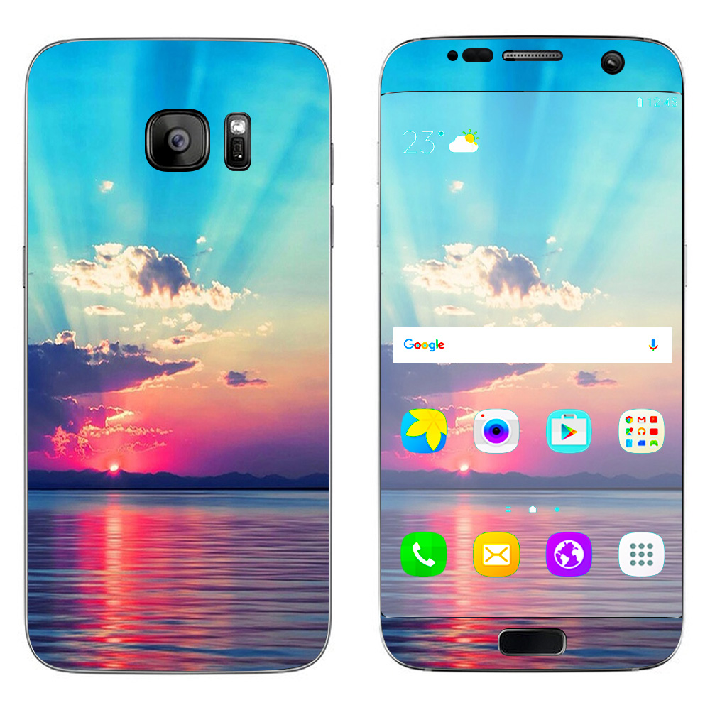Skins Decals For Samsung Galaxy S7 Edge / Summertime Sun Rays Sunset