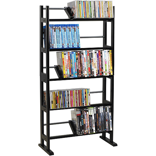 Atlantic Multimedia Storage Rack, Wood/Metal