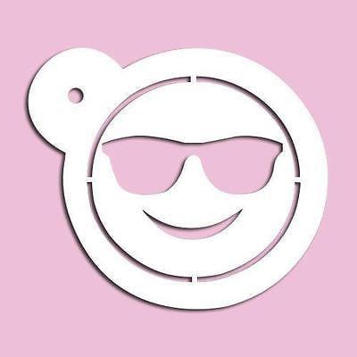 Imprinted Sunglasses Cheap (Sunglasses Emoji Stencil)