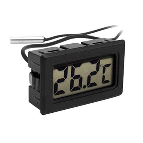 Digital LCD Display  Refrigerator Freezer Thermometer Black