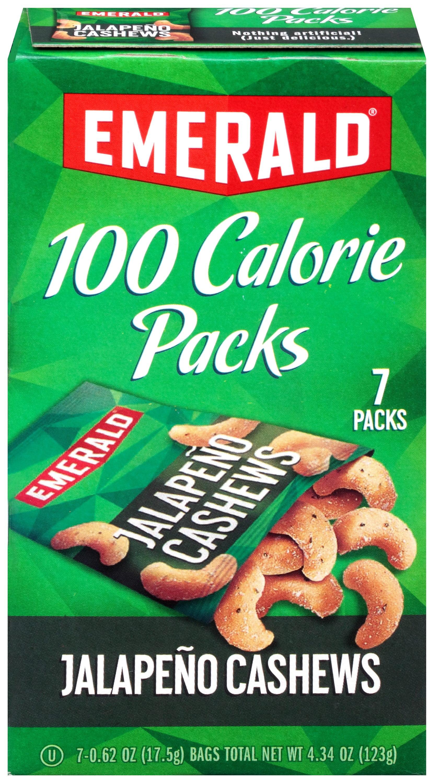 Emerald, 100 Calorie Jalapeno Cashews, 0.62 Oz, 7 Ct by Diamond Foods, Inc