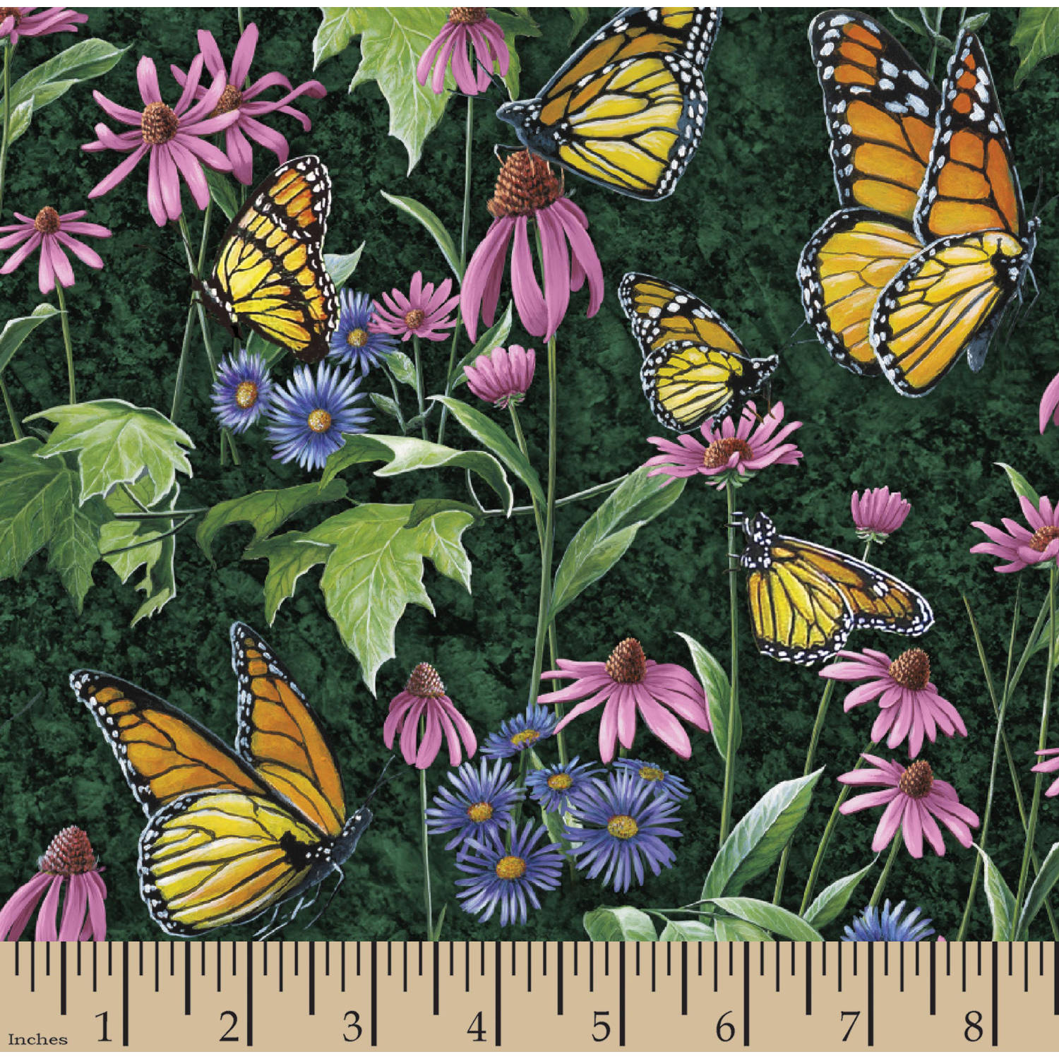 "Wild Wings Scenics Butterflies, Multi-Colored, 43/44"" Width, Fabric by the Yard"