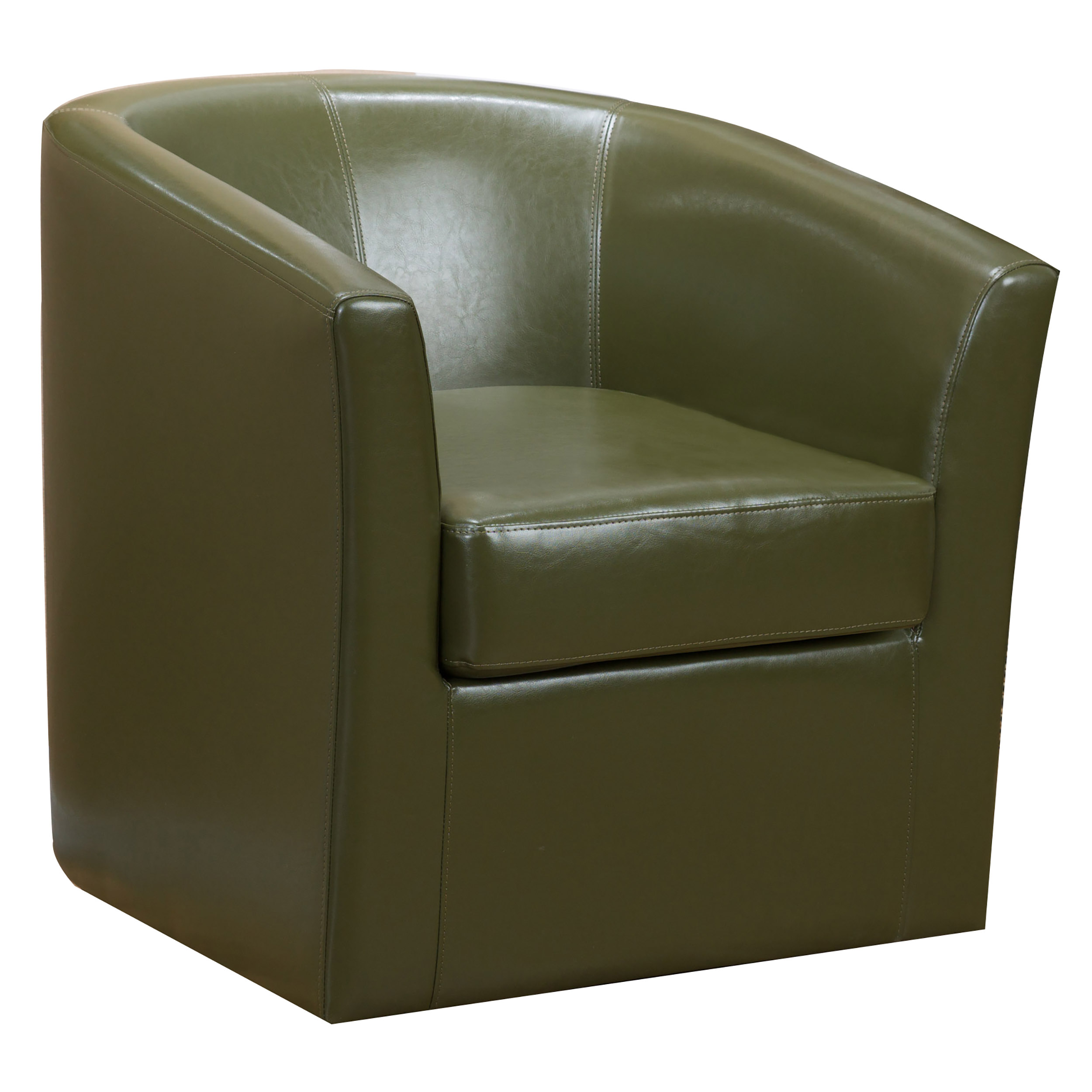 Souta Faux Leather  Swivel Club Chair, Tea Green