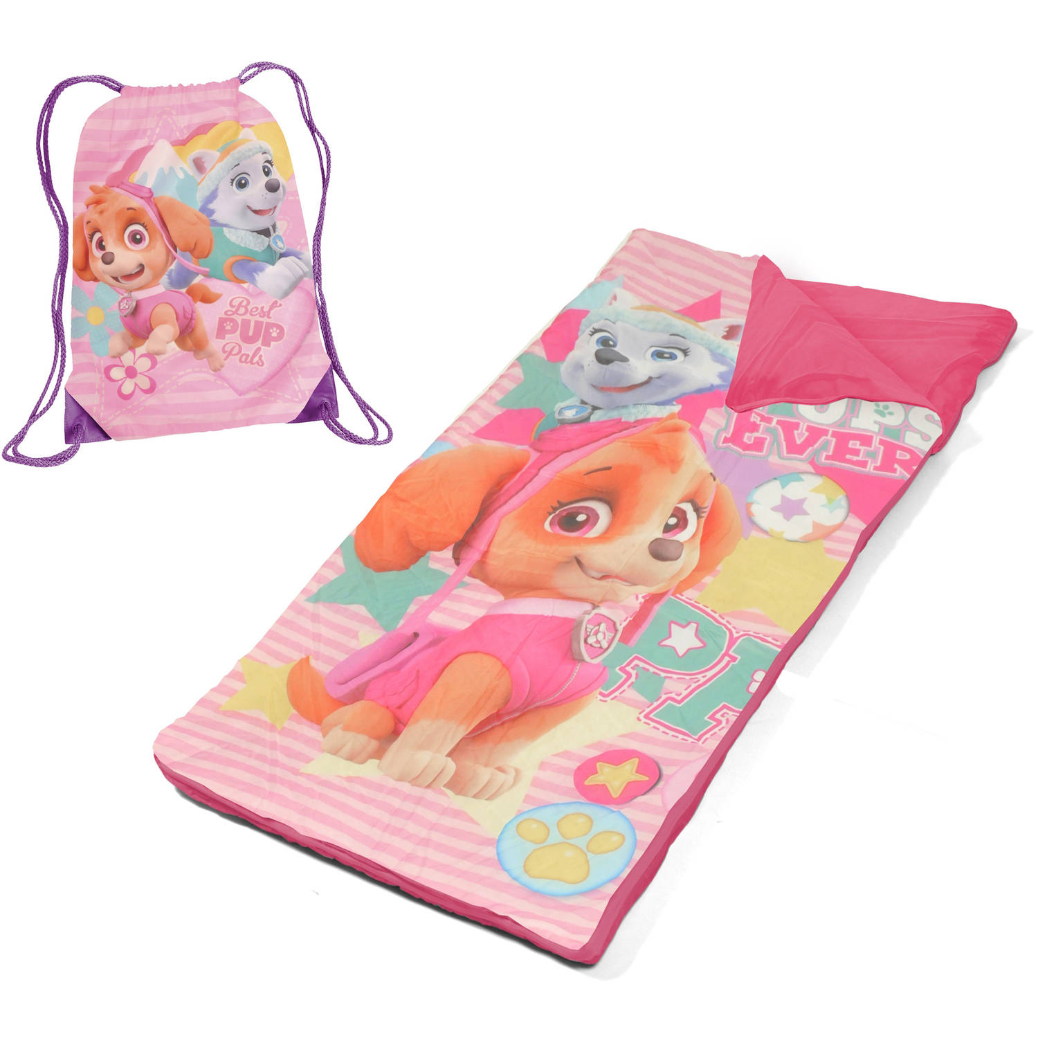 Nickelodeon Paw Patrol Girls' Sling Bag Slumber Nap Mat Set