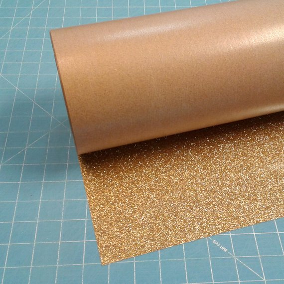 """Gold Siser Glitter 20"""" x 10' (feet) Iron on Heat Transfer Vinyl Roll HTV"""