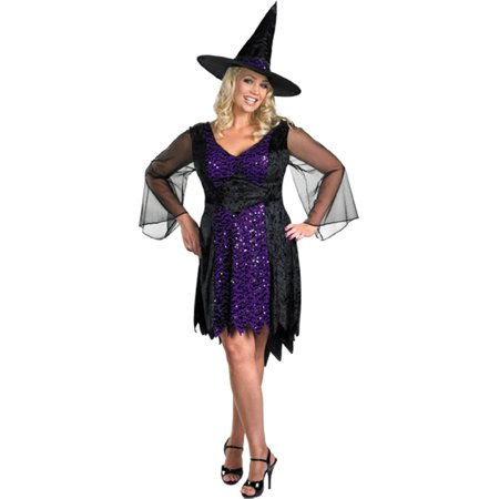 Morris Costumes Adult Womens Witch Shimmery Dress Drop Sleeves 18-20, Style DG23884F