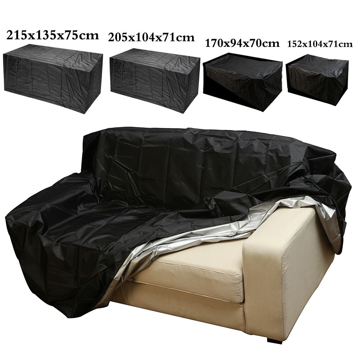 4 Size Outdoor Waterproof Dustproof Furniture Protector Table Set Chair Sofa Cover Case... by