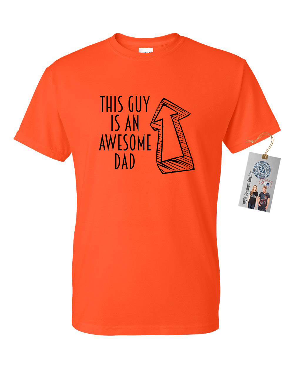 Custom Apparel R Us This Guy Is An Awesome Dad Fathers Day Mens