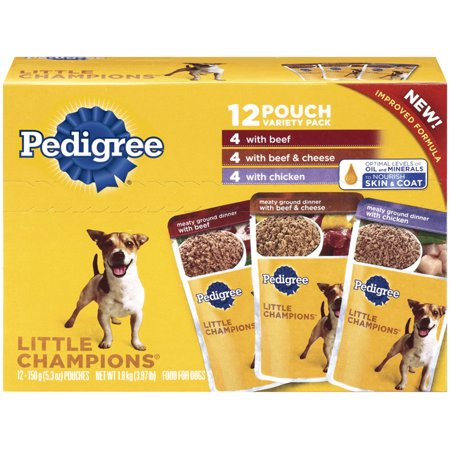 Pedigree CHAMPIONS charnue PEU boeuf haché Variety Pack Wet Dog Food 5.3 Onces (paquet de 12)