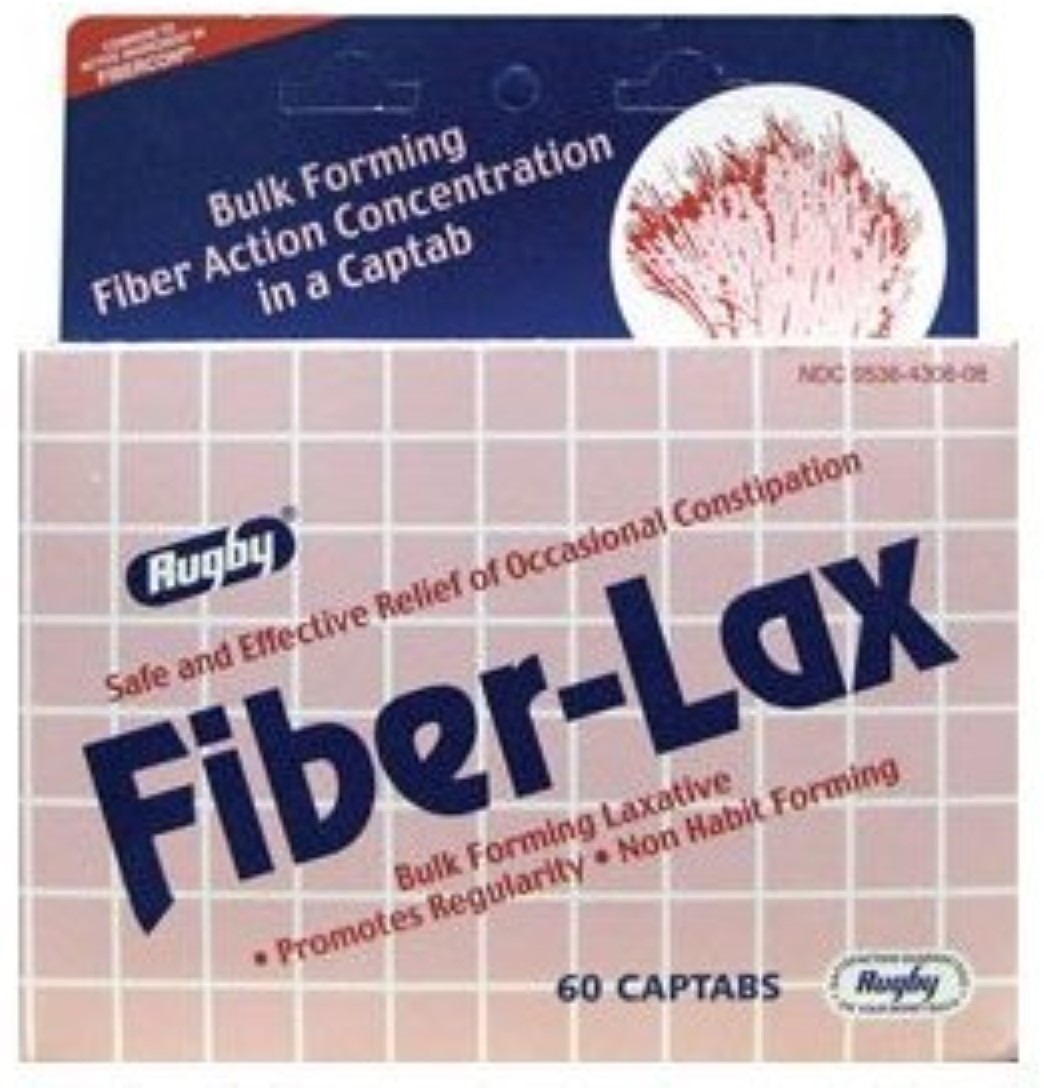 Rugby Fiber-Lax 625 mg Tablets 60 ea