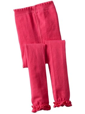 55e42455e0957 Product Image Jefferies Socks Girls Hot Pink Ruffle Trim Cotton Footless  Tights