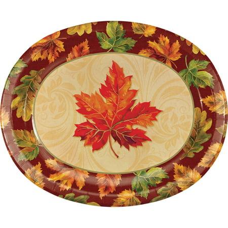 Fall Flourish Oval Plates, 8