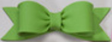 Cake Decoration Gum Paste Bow- Solid Green