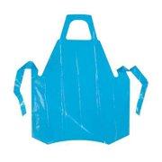 POLYCO 46501 Die Cut Apron,Blue,55 In. L,PK 100