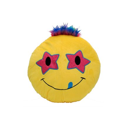 Cushion Emotion Stuffed Plush Toy Pillow Bed Decor Emoji- Rock Star Eyes ()