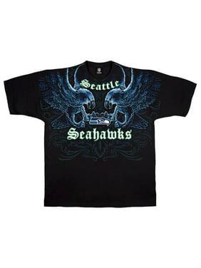 c6d6db94c40 Product Image NFL  Seahawks Face Off Apparel T-Shirt - Black. Liquid Blue