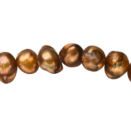 - Copper Freshwater Cultured Pearls Natural Baroque, C+ Graded, 10x6x9mm (Approx.), 15.5Inch Strings/47Pearls