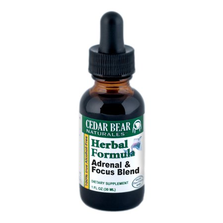 Cedar Bear Naturales Adrenal and Focus Blend Supplement, 1 Ounce