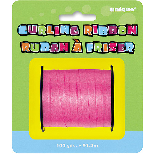 Hot Pink Curling Ribbon, 100 yds