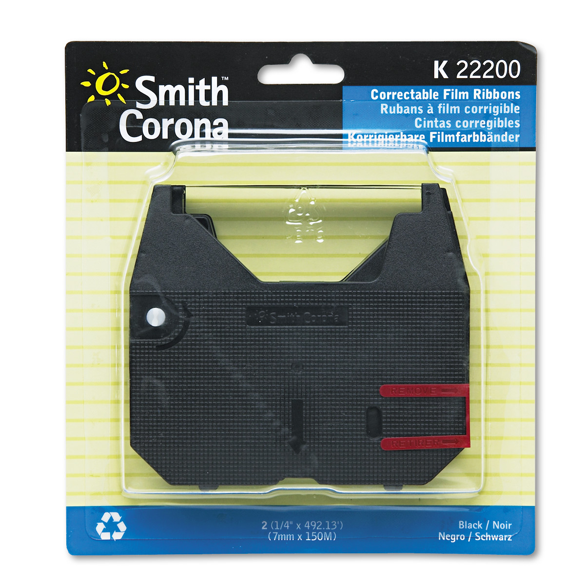 Smith Corona 22200 Ribbon, Black