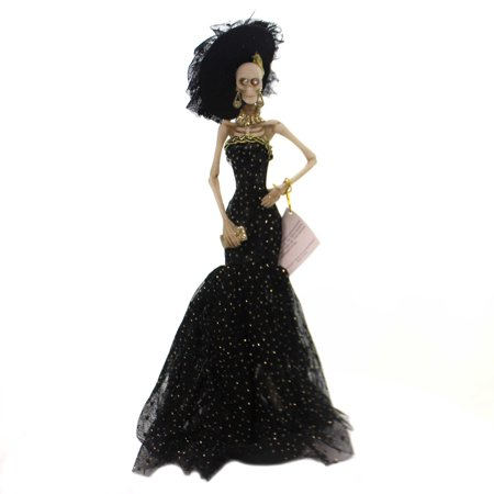 Halloween ROARING 20'S SKELETON Polyresin Evening Gown Feather Hat 6081904 - Roaring 20 Dresses