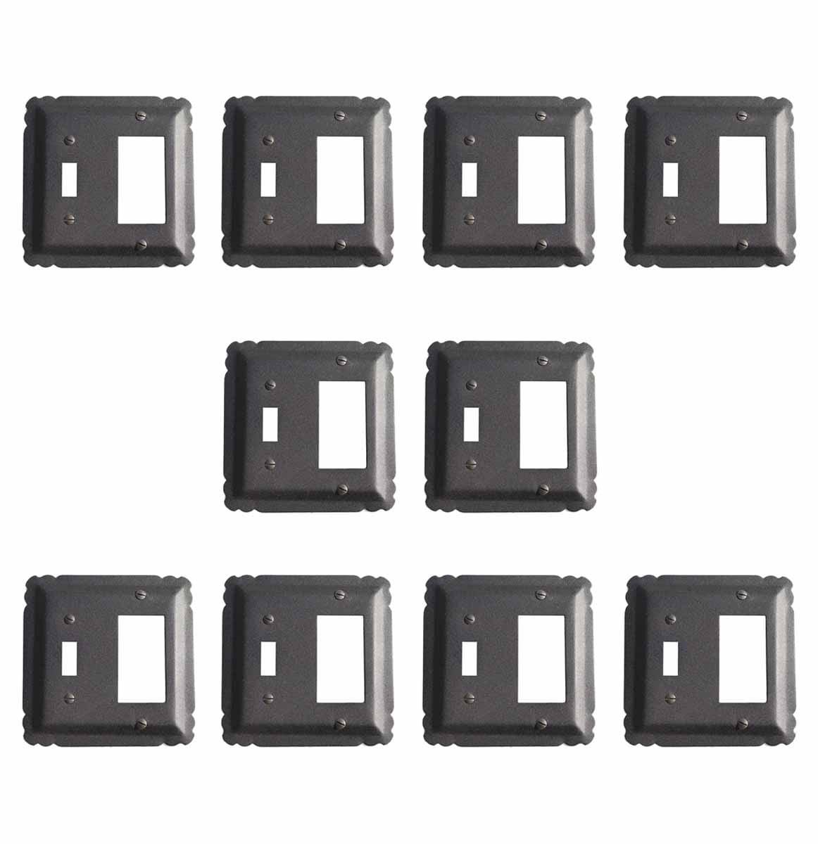 "10 Switchplate Black Wrought Iron GFI/Toggle 5 1/4"" | Renovator's Supply"