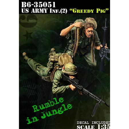 Bravo6 1 35 Us Army Infantry  2 Greedy Pig Vietnam   2 Resin Figures  B6 35051