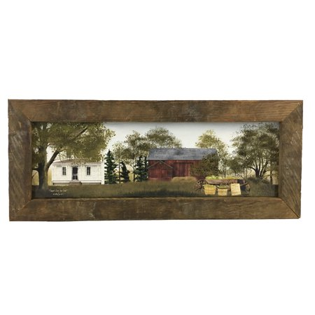 Sweet Corn Print w/Rustic Reclaimed Tobacco Lath Frame