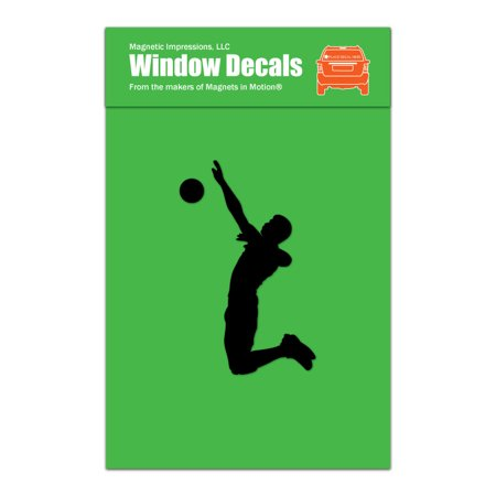 Volleyball Player Male Spike Car Window Decal (Best Male Volleyball Player)