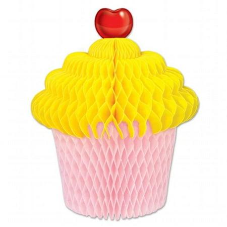 mpany  Tissue Cupcake Centerpiece - Yellow & Pink](Cupcake Centerpieces)