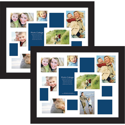 Collage Photo Frames, 16x20, Black, Set of 2