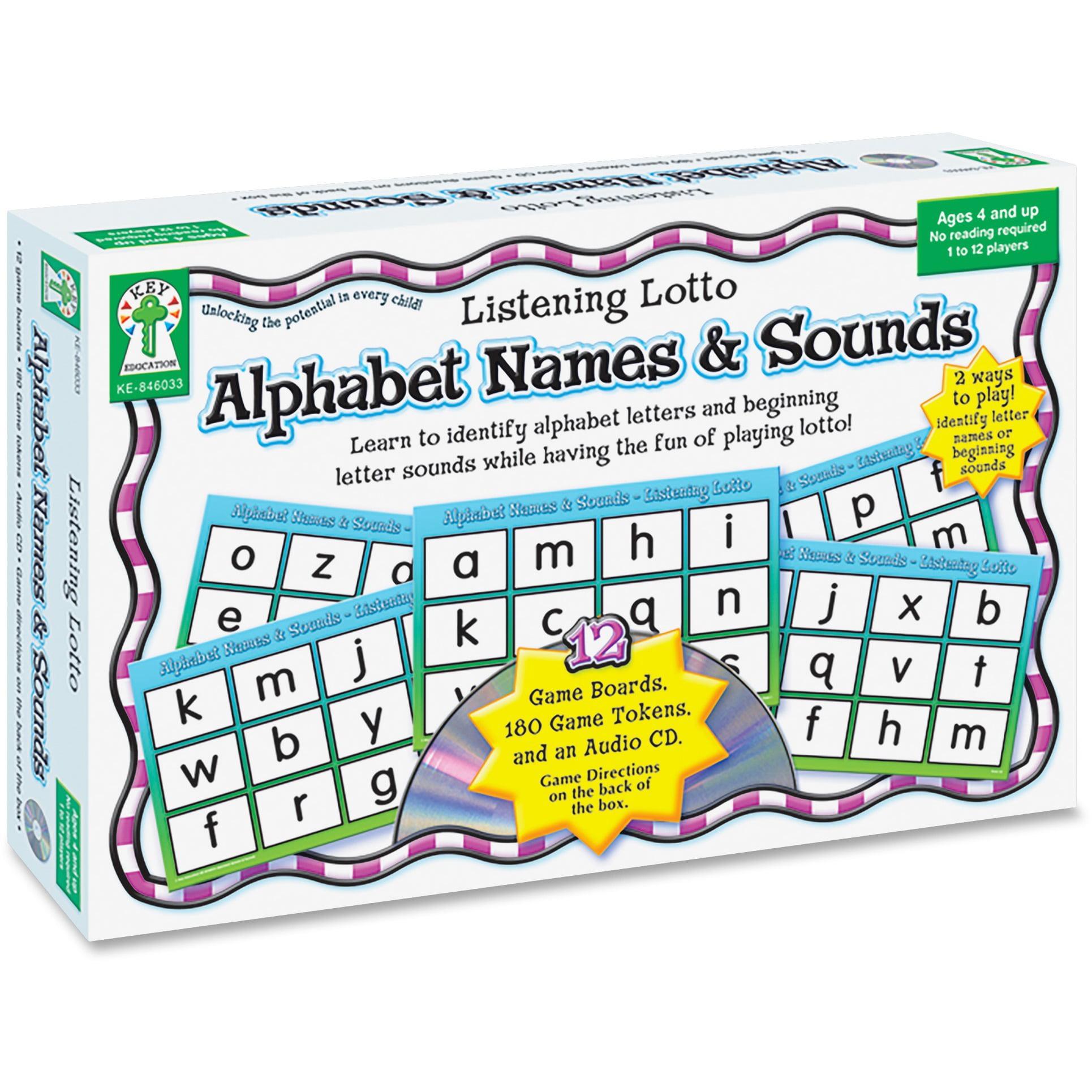 Carson-Dellosa, CDP846033, Grades PreK-1 Alphabet Names/Sounds Game, 1 Each, Multi