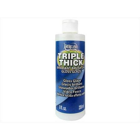 Decoart Triple Thick Glaze 8oz Gloss Bottle