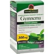 Nature's Answer Gymnema Leaf Extract - 60 Vegetarian Capsules
