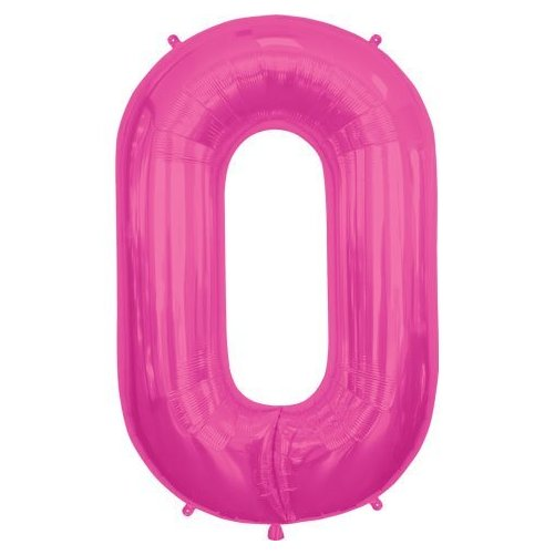 Letter O - Magenta Helium Foil Balloon - 34 inch