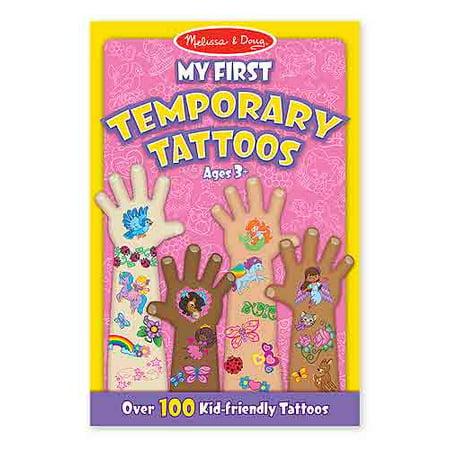 Mon premier tatouage temporaire - Rose