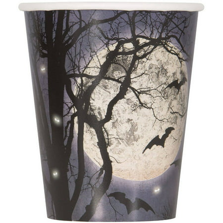 Spooky Night Halloween Paper Cups, 9oz, 8ct - Uga Halloween Party