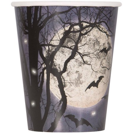 Spooky Night Halloween Paper Cups, 9oz, 8ct - Halloween Spookies