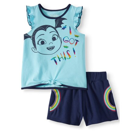 Vampirina Tank Top and Shorts, 2pc Outfit Set (Toddler Girls)](Character Outfits Ideas)