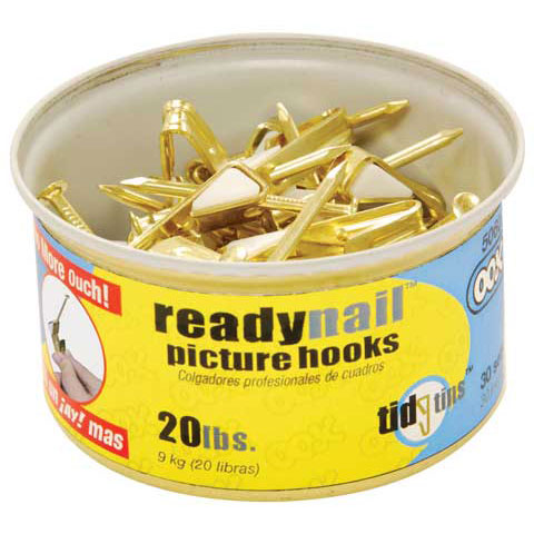 Hillman Group Inc-Ook 50607 20# ReadyNail™ Conventional Picture Hooks In Tidy Tin 30 Ct