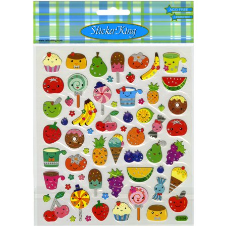 Multicolored Stickers-Fruit Faces