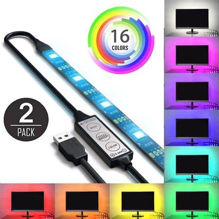 EEEKit USB RGB LED Strip Lighting 2-Pack, 37.5