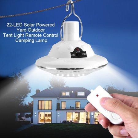 New 22LED Outdoor/Indoor Solar Lamp Hooking Camp Garden Lighting Remote Control Remote Solar Lighting