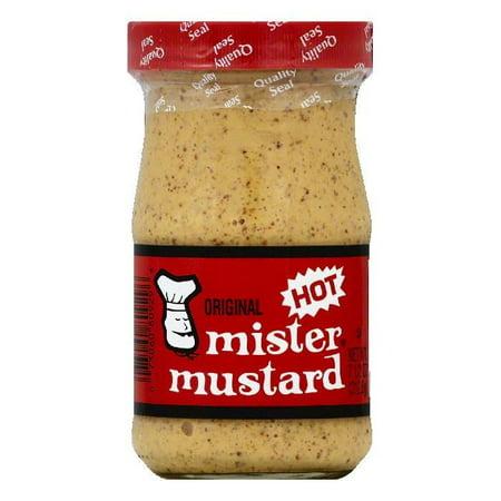 Mister Mustard Hot Original Mustard, 7.5 OZ (Pack of 6)